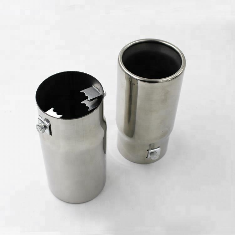 Round Universal Car Stainless Steel Exhaust Chrome Tail Pipe Tip Muffler