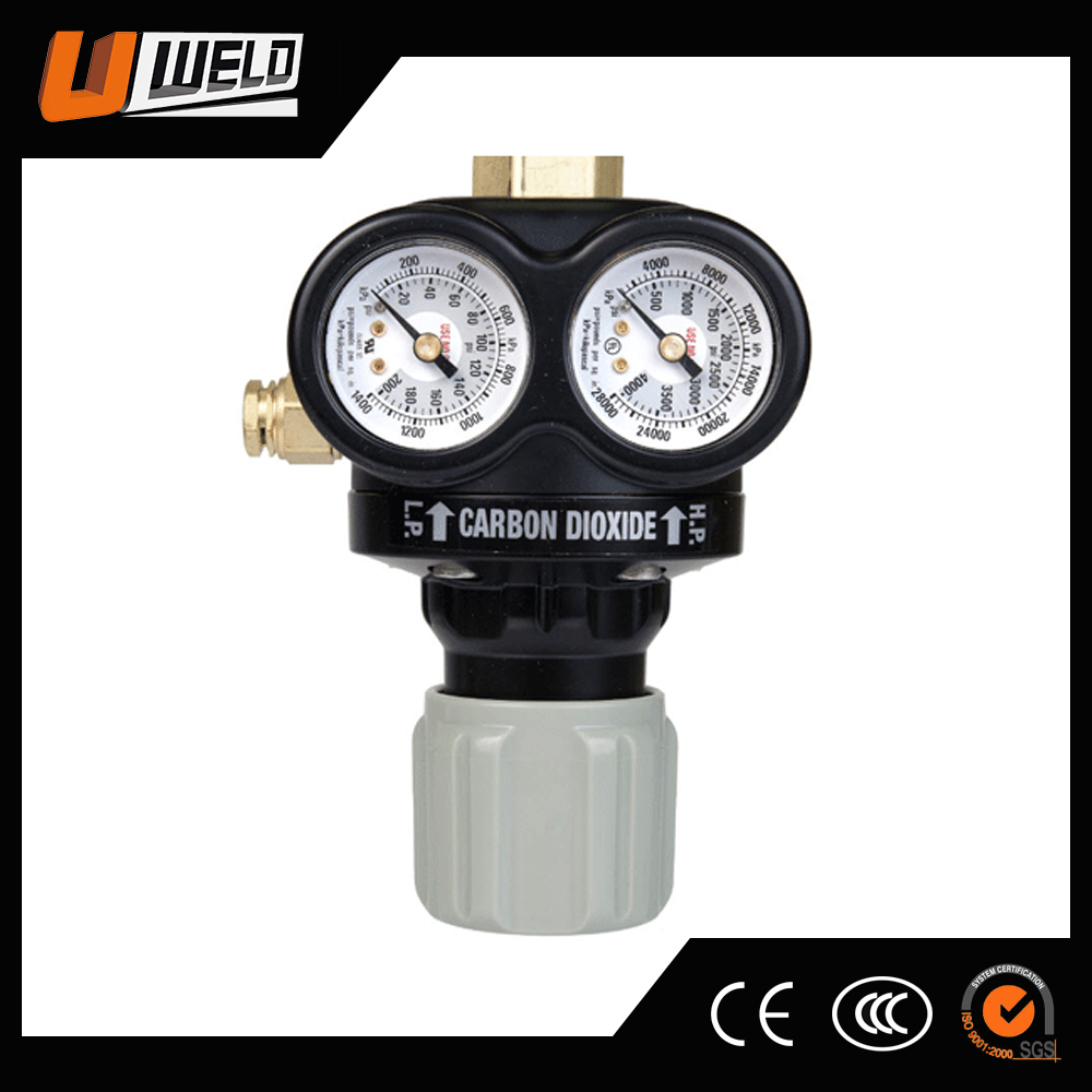 UWELD UW-1493 0781-5147 Edge Carbon Dioxide two Stage Heavy Duty ESS4 CO2 Regulator