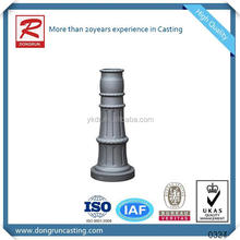 Professional aluminum foundry supply sand casting decorative lamp post bases