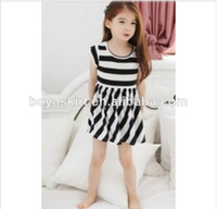 100%cotton famous branded new design baby dress children short sleeve dress
