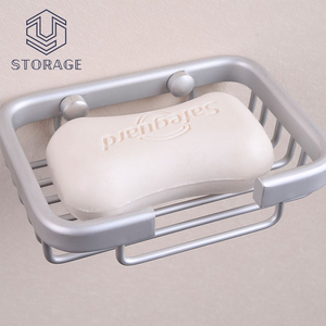 wholesale wall mounted wire hanging metal soap holder aluminum shower soap dish for hotel home