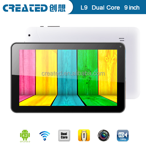 Double cameras 9 inch allwinner a23 dual core tablet pc android