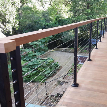 Modern Stainless Steel Cable Wire Railing For Stairs / Porch Railing ...