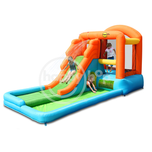 happyhop Hot Sale 9049 giant airflow bouncy castle and pool,airflow play and splash center,inflatable bouncer and slide