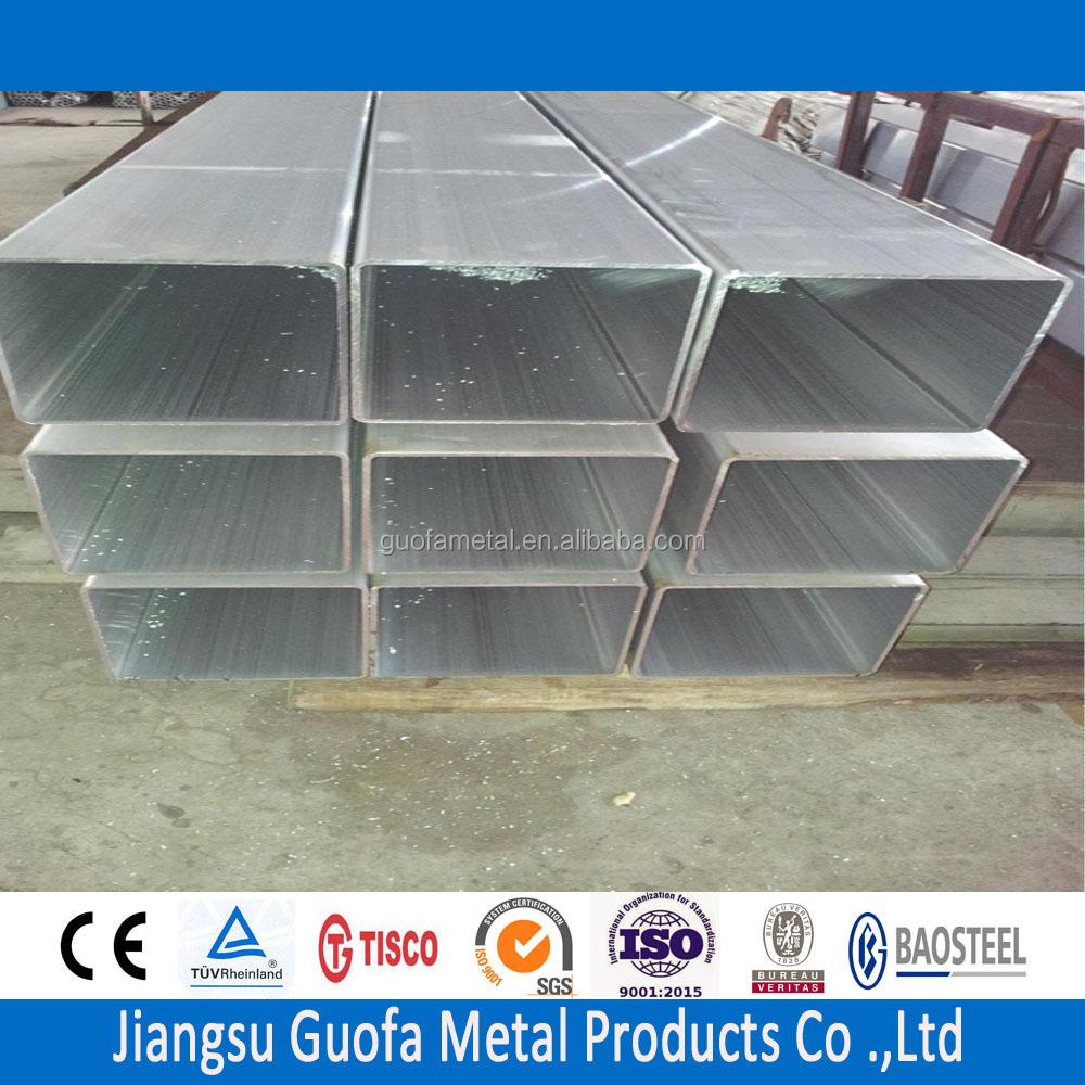 Extrudé T6 6061 En Aluminium Tube Carré Tubes en aluminum