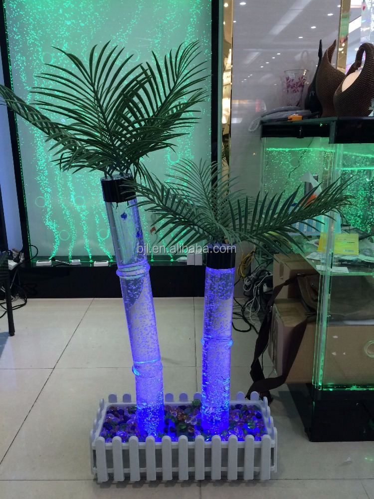 led water bubble tube Artificial led coconut tree light up palm tree