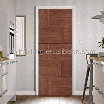 0.6mm Oak Veneer Stain Grade Finish Bedroom Modern Door Designs For Houses