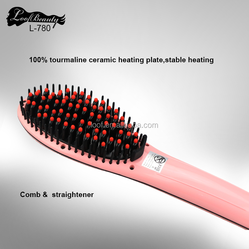 Hair salon equipment in stock electric home use hair straightener brush