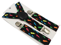 Free Shipping 2016 New Cute Fashion Kids Black Colorful Lightning Print Suspenders For Girls