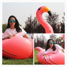 2017 PVC swimming pool float giant pink inflatable flamingo
