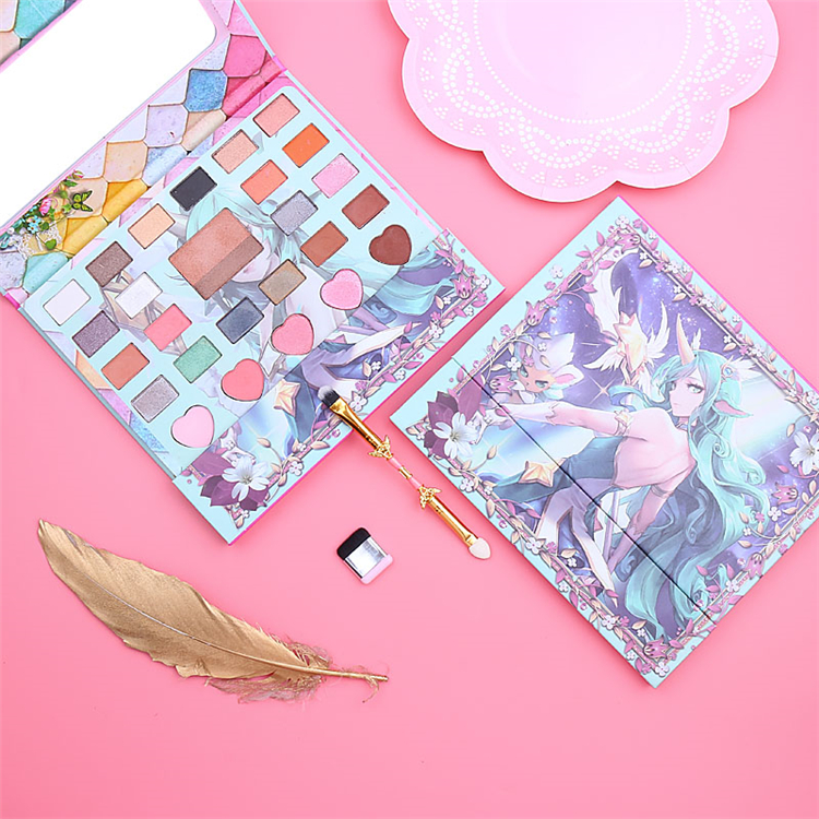 Eyeshadow Palette Glitter Makeup Set Japanese CARDCAPTER SAKURA Anime <strong>Cosmetics</strong> With Brush 26 Colors Matte Eye Shadow Palette