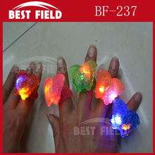 Soft Flicker finger flashing led Bufferfly jelly ring