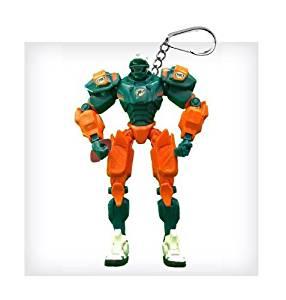 "Miami Dolphins 3"" Team Cleatus FOX Robot NFL Football Key Chain Version 2.0"
