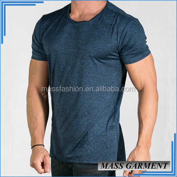 Open Side Mens Athletic Dri Fit T Shirt 92%Polyester 8%Spandex Mens T Shirt