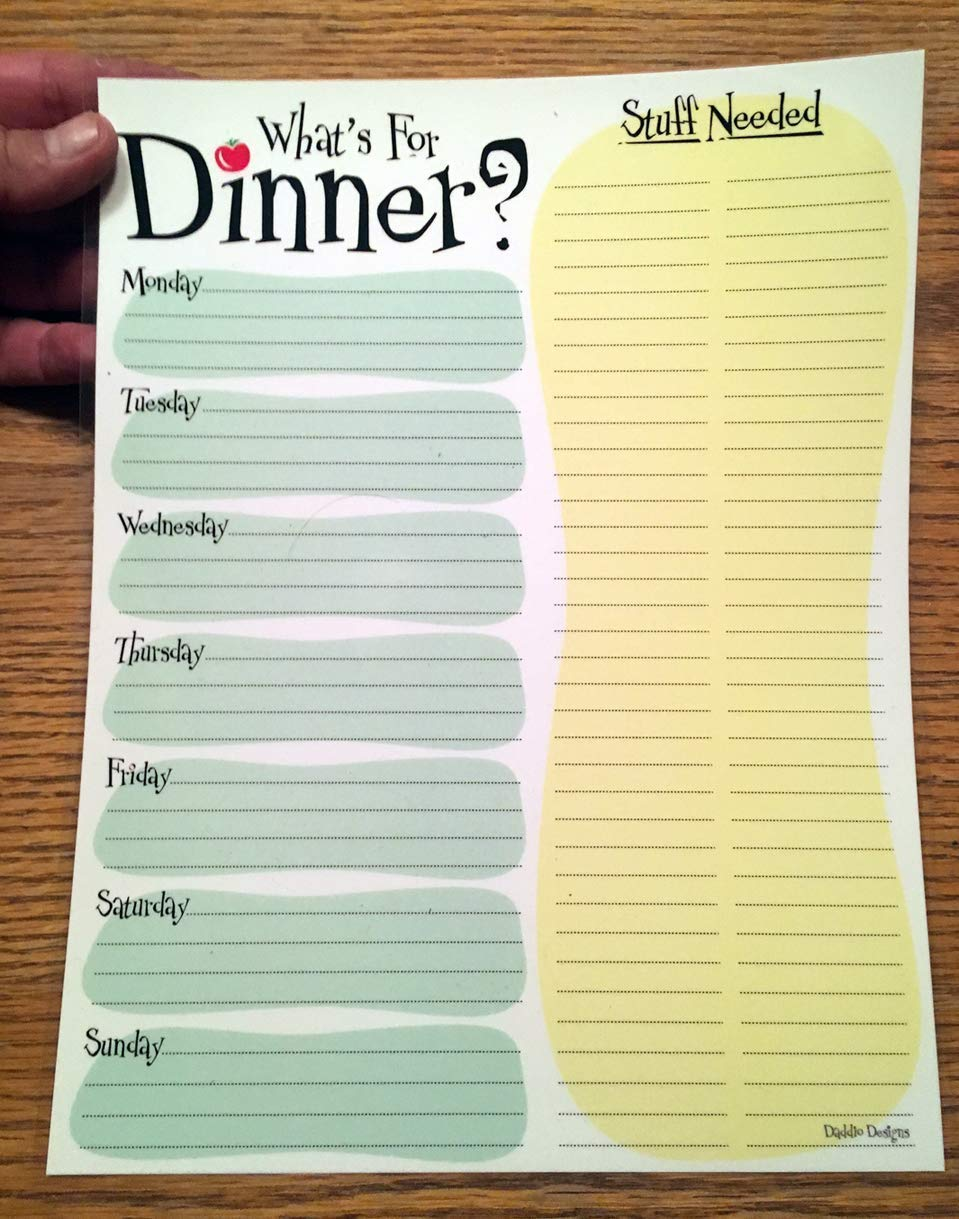 Weekly Meal Menu Planner - Dry Erasable - Easy to use