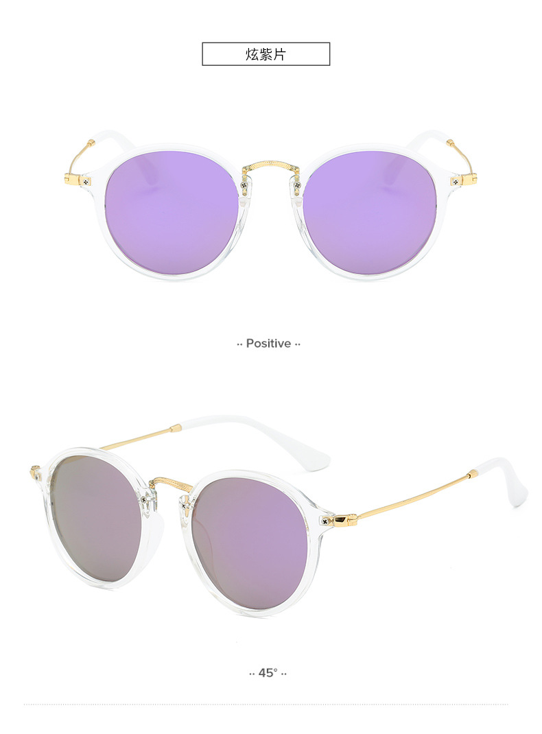 Classic Brand Italy Design Fashion Wholesale Custom Metal Round Frame Men UV400 Gradient TAC 2447 Vintage Polarized Sunglasses