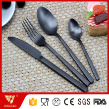Latest Factory Manufacture Black Cutlery, Matte Black Cutlery Set, Black Plated Flatware Set