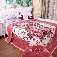 cow print raschel blanket/korean mink blankets wholesale/fleece throw