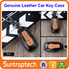 3 Buttons Flip Smart Keyless Remote Car Key Genuine Leather Case for Ford new focus mondeo Edge Kuga Ecosport Escort CKL02