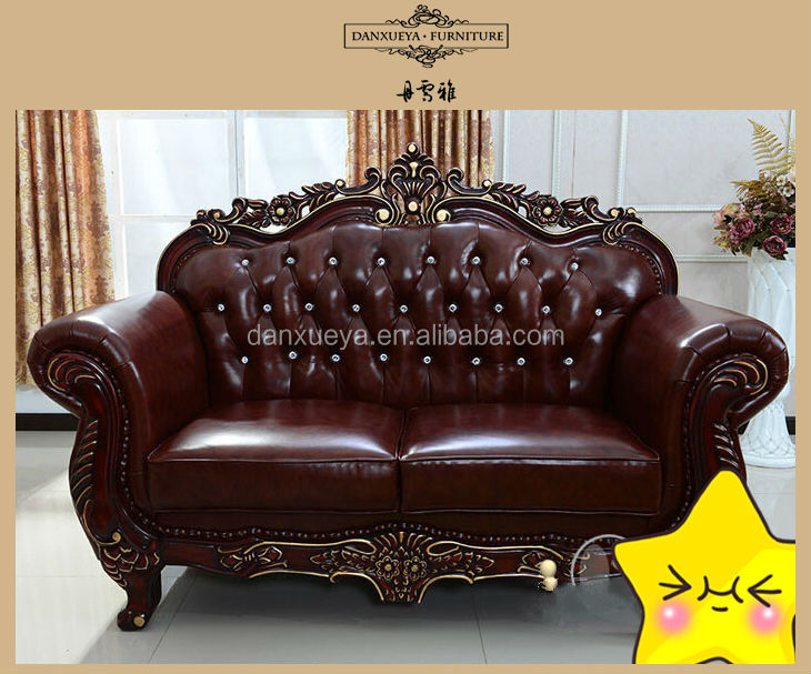 Antique Tufted Full Grain Leather Chesterfield Sofa - Buy Cheap
