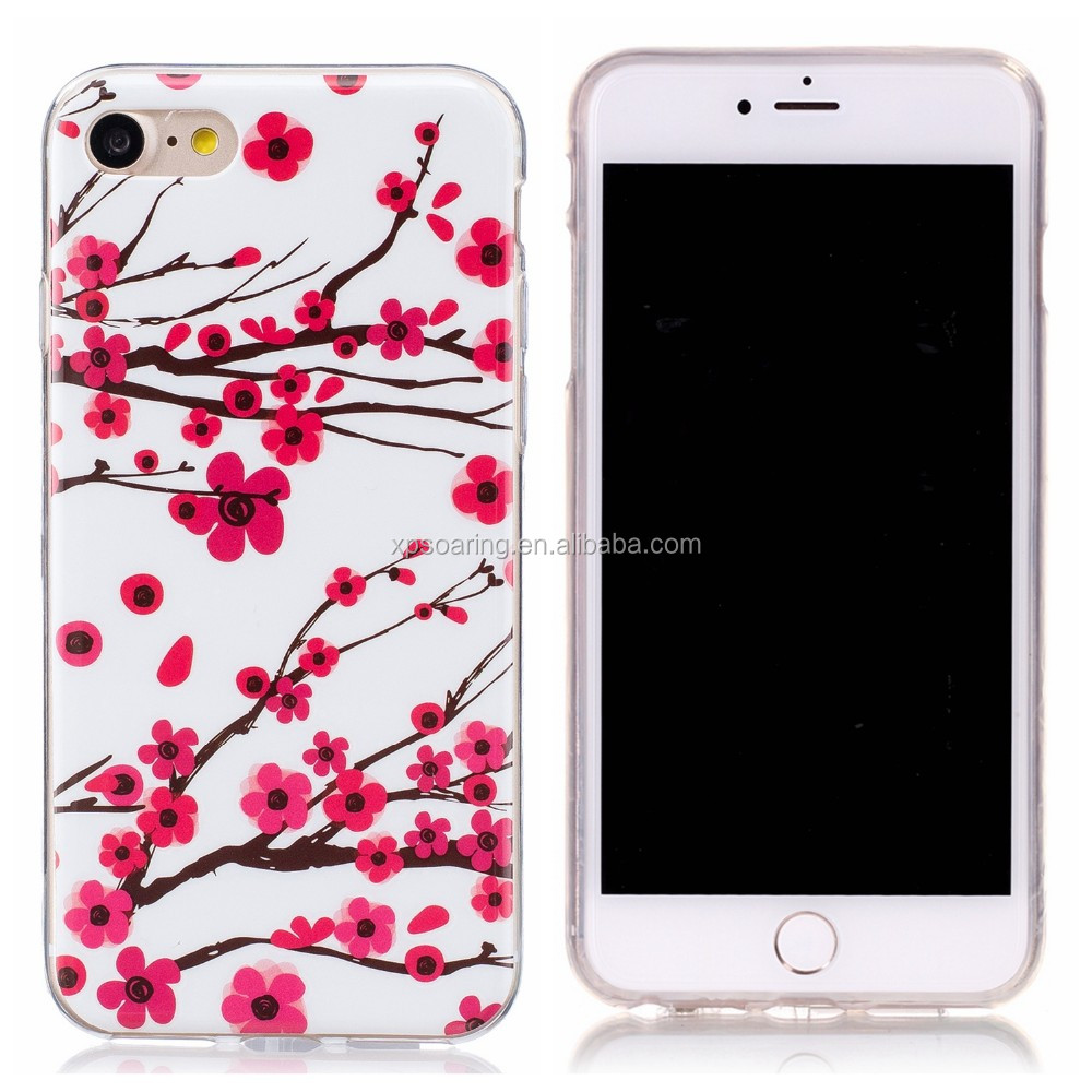 luminous printing TPU cell phone for iphone 7 cover case,for iphone 7 luminous TPU back cover
