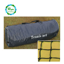 Top professional PE knotted portable retractable tennis net