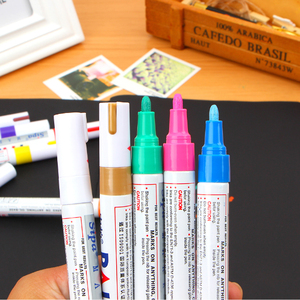 Customized Metal paint marker pens permanent ink makers empty marker pen idea for anything surface