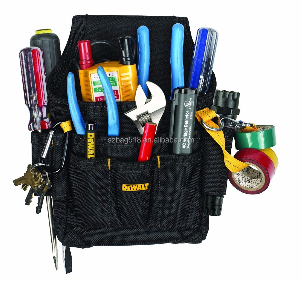Amazon hot selling custom kleine onderhoud taille elektricien tool bag