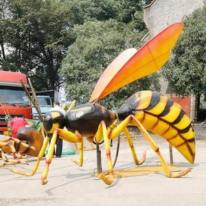 Artificial large realistic silicone rubber beetles animatronic insects for sale