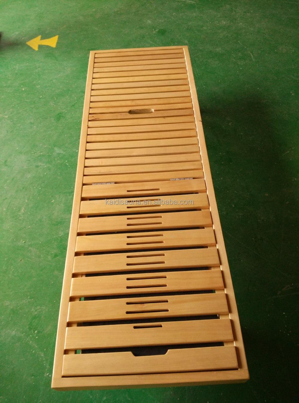 Nuovo Progettato Sauna In Legno Sedia Panca Con Kd s02