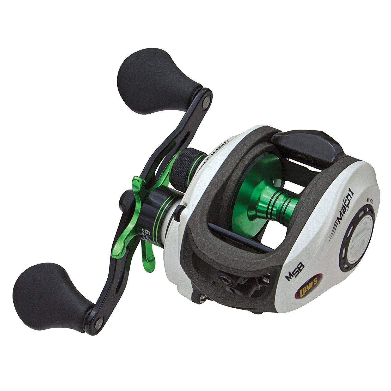 """Lews Fishing Mach 1 Speed Spool Series Reel 31"""" IPT, 7.1:1 Gear Ratio, 9+1 Bearings, Left Hand"""