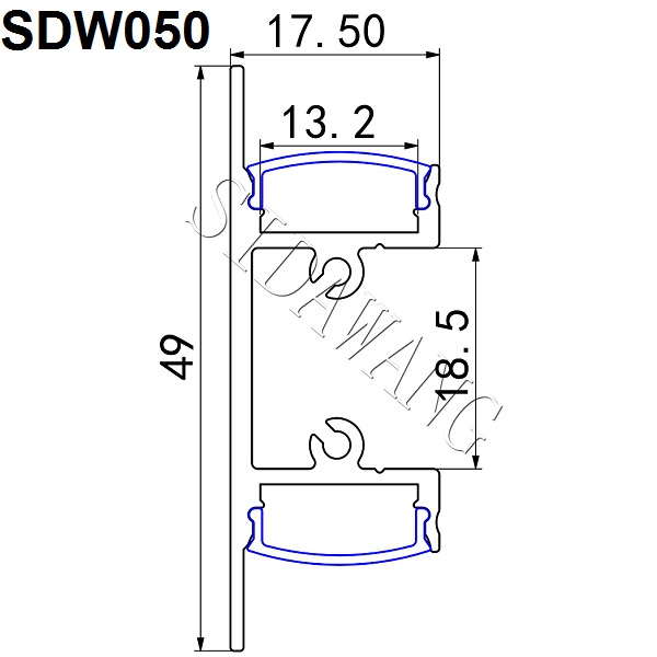 Up/Down Indirect Wall mount led strip aluminum profile