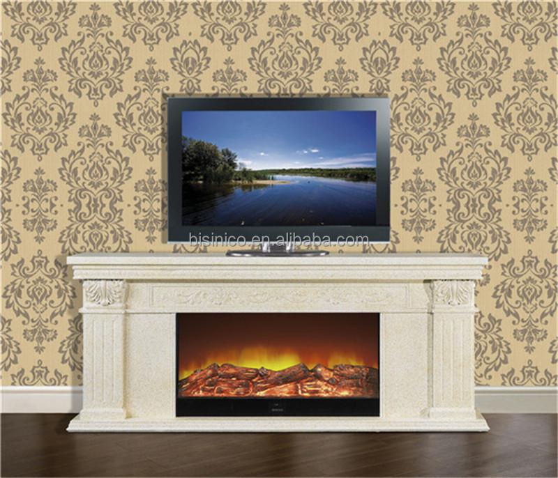 Europ enne grande lectrique chemin e meuble tv avec for Decoration foyer electrique et television