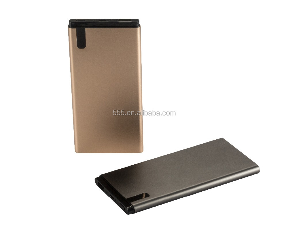 New LCD digital display Power bank, Slim thin metal meterials Phone charger 5000mah