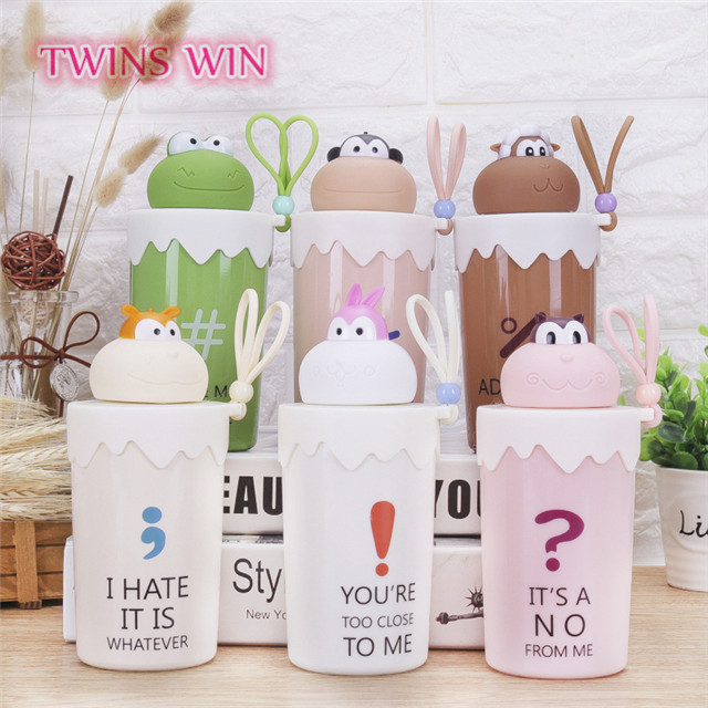 Australia free samples 2018 hot sale kids funny animal shaped small glass water bottle for gift promotion