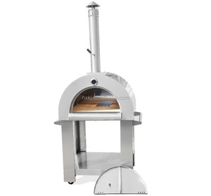 Outdoor easy mobile stainless steel wood fired pizza oven