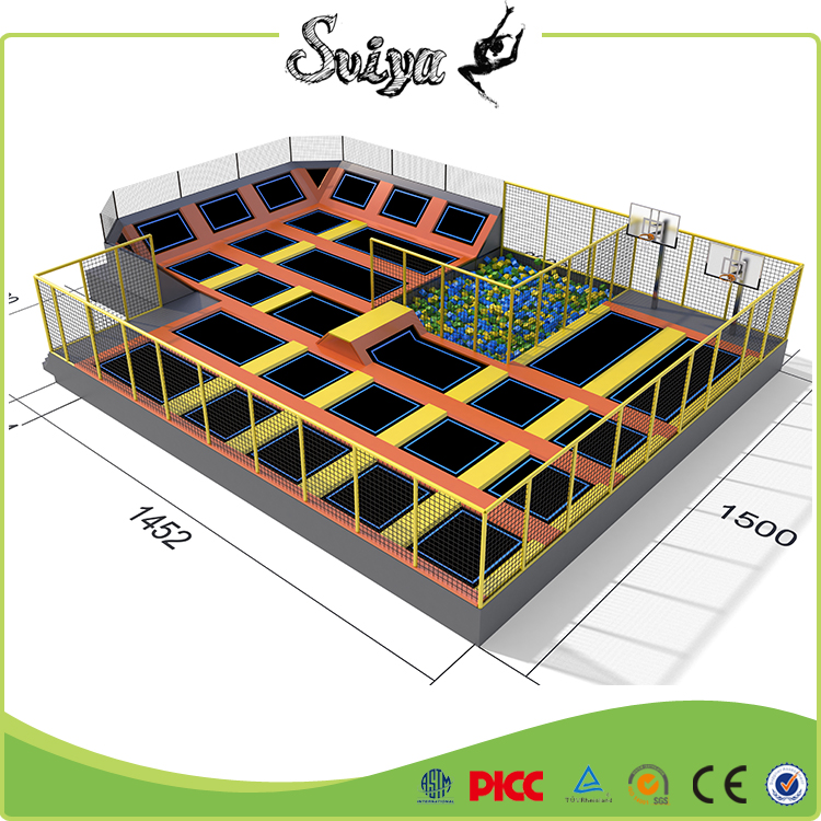 Xiaofeixia 2016 Widely Used Cheap Indoor Trampoline Park With Basketball Hoop For Jumping