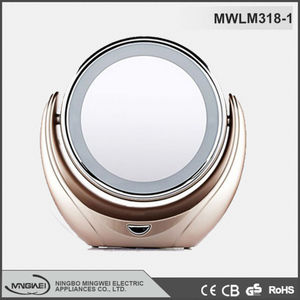 China new popular switch double side colored LED lighted cosmetic mirror