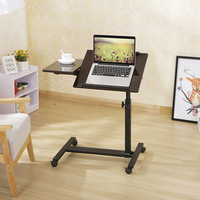 height adjustable bamboo folding laptop table sit stand desk