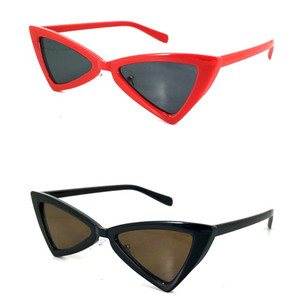 Fashion Super Star Retro Sun glasses Custom logo Butterfly Vintage Irregular Triangle Sunglasses