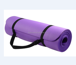 BalanceShine GoYoga mat All Purpose 1/2 INCH Extra thick High density AntiTear Exercise nbr Yoga Mat with carrying strap