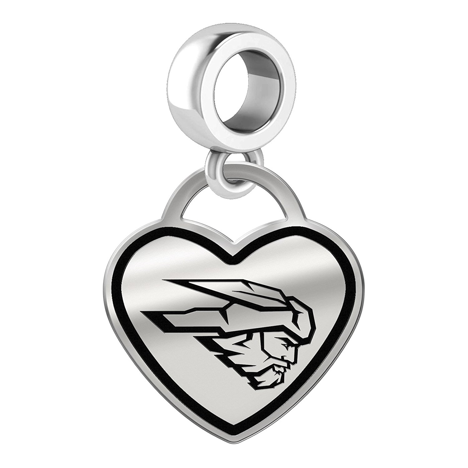 1b0653f81f29db Get Quotations · Western State Colorado Mountaineers Border Heart Dangle  Charm Fits All Beaded Charm Bracelets