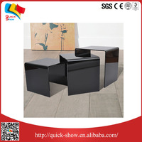 2016 hot sale transparent acrylic dining/coffee/tea table design made in China