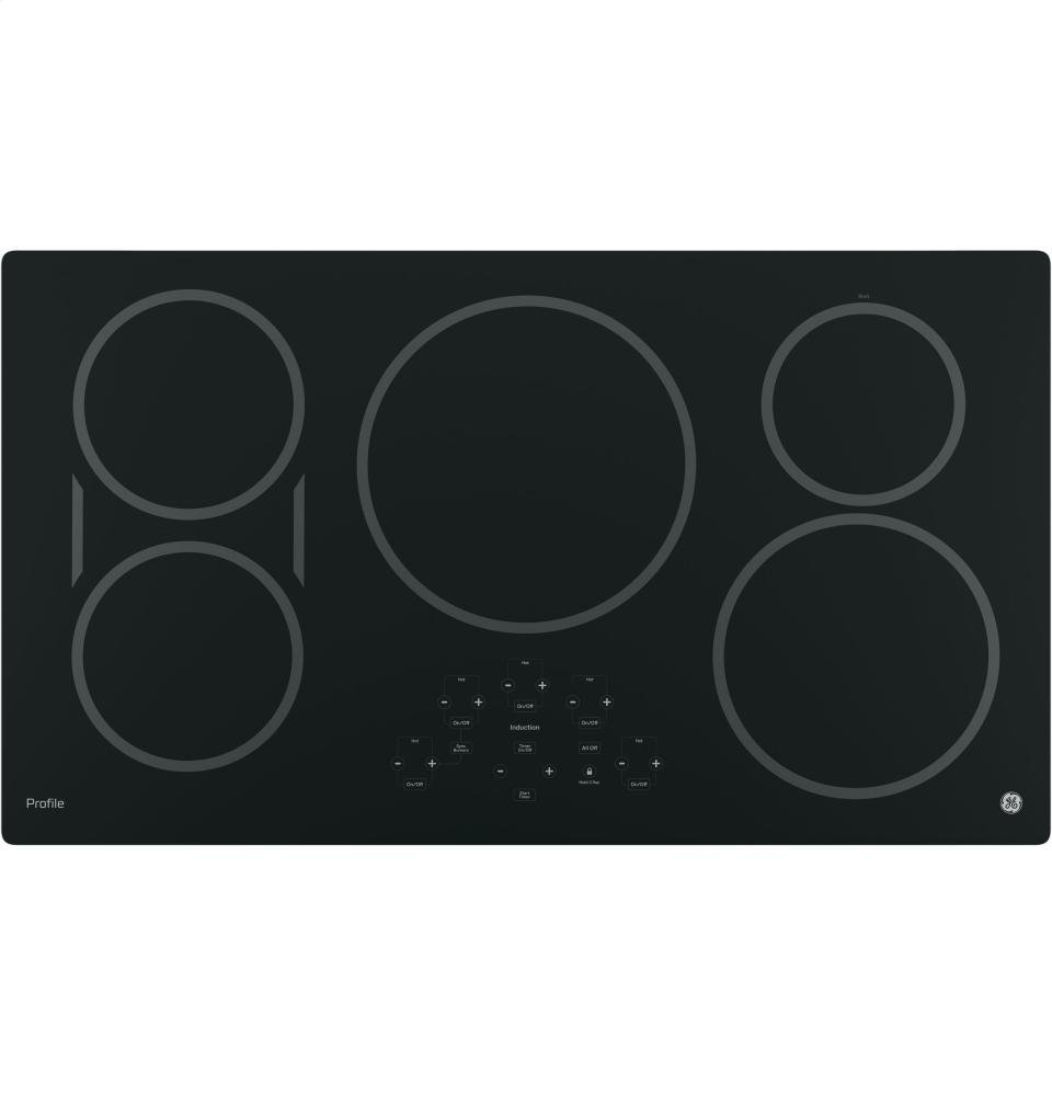 "GE PHP9036DJBB Profile 36"" Black Electric Induction Cooktop (Certified Refurbished)"