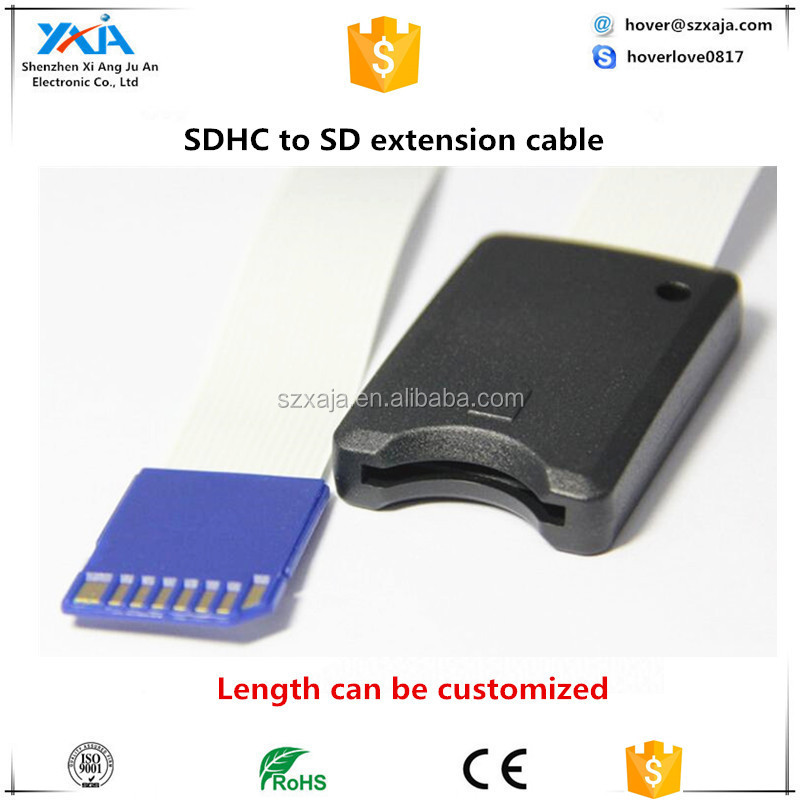 Universal SD SDHC Card Reader Extension Cable Cord for GPS DVD