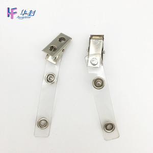 retractable badge and badge id metal card holder clips