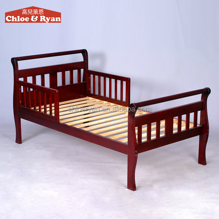 New Design Baby Pine Wood Cot Bed Cheap Unique Baby