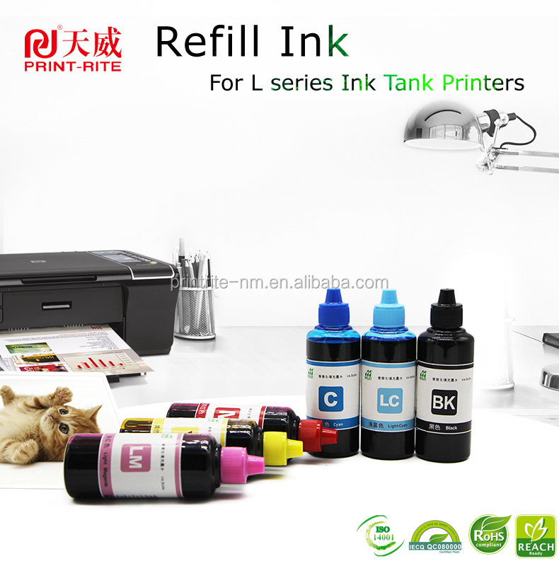 new 70 100ml pigment dye ink refills for epson wf ecotank et4550 high speed ink tank system 664 774 ink type