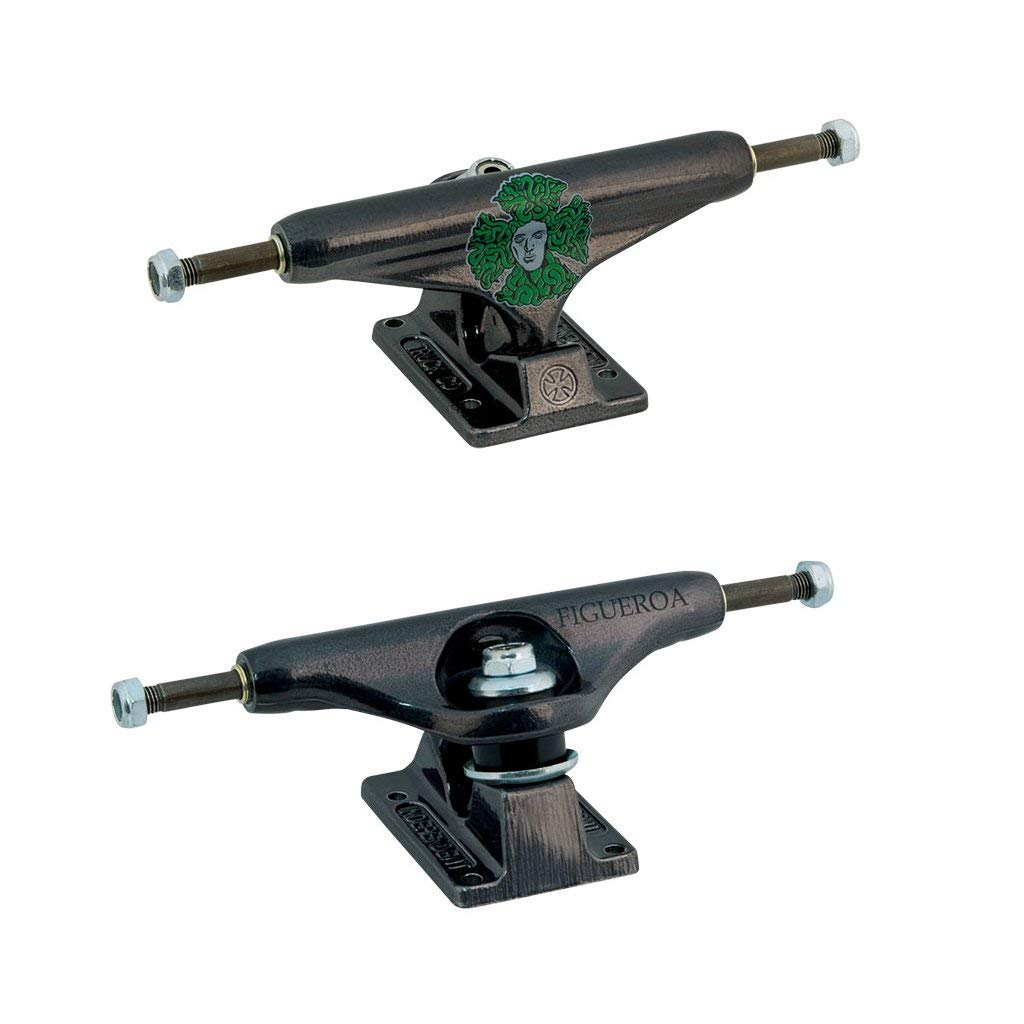 7.6 Axle Set of 2 Independent 129 Stage 10 Standard 127mm Lo Raw Skateboard Trucks