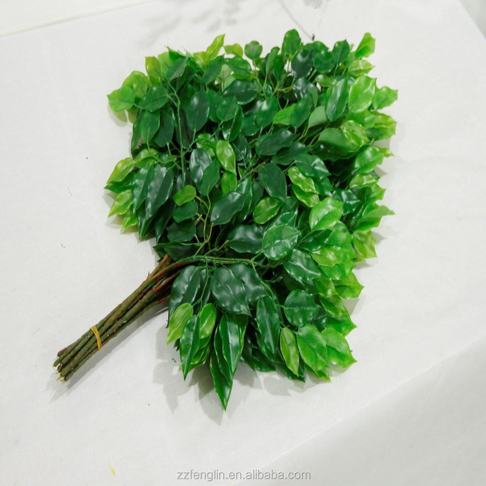 Nieuwe ontwerp groene kunstmatige ficus bladeren plastic tak ...